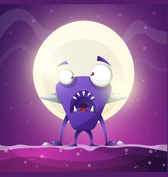 fear horror hell cartoon monster vector image