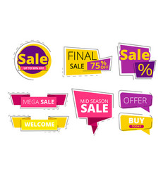 flat promo banners big sale advertizing offers on vector image