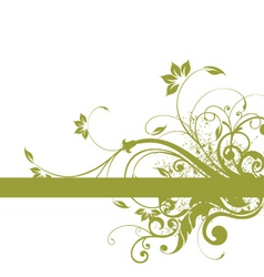 Floral background frame design vector