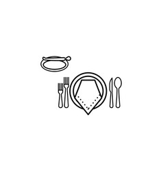 Formal dinner icon can be used for web logo vector