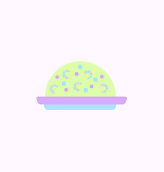 Fried rice with shrimp vector