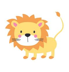 funny kids print lion vector image