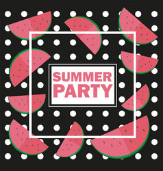 funny summer unusual background with vector image