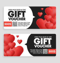 gift voucher coupon discount for happy valentines vector image