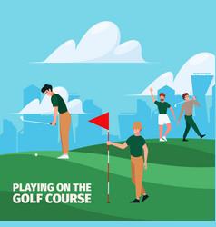 golf background sport field action activities vector image