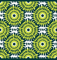 Green chrysanthemum seamless pattern texture be vector