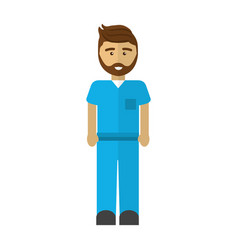 Handsome professional doctor with uniform vector