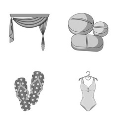 House travel and other monochrome icon in cartoon vector