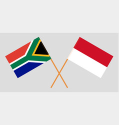 Indonesian and south african flags vector