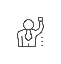 leadership line outline icon and business people vector image