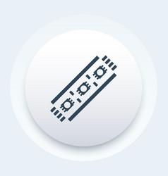 Led stripe icon vector