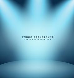Light studio background vector