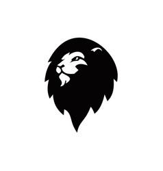 Lion-head-ambassador-logo vector