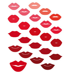 lips set design element vector image