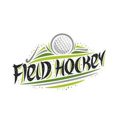 Logo for field hockey vector