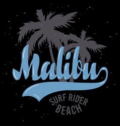 Malibu surf rider beach california surfing surf vector