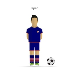 National football player Japan soccer team uniform vector image