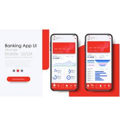 Online banking mobile apps ui ux gui set vector