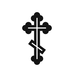 Orthodox cross icon simple style vector image