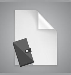 Paper symbol purse vector