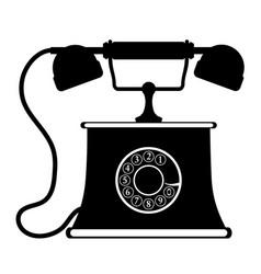 Phone old retro vintage icon stock vector