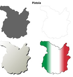 Pistoia blank detailed outline map set vector