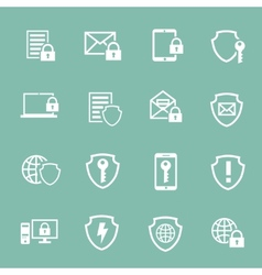 Protection information technology security vector
