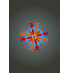psychedelic mandala vector image