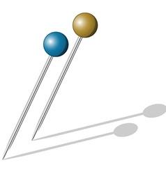 Push pins vector