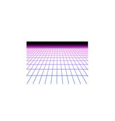 Realistic neon grid icon vector