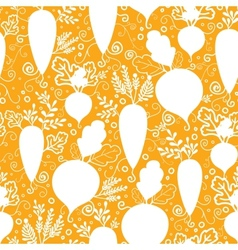 Root vegetables silhouettes seamless pattern vector