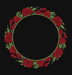 round floral border frame vector image