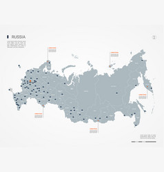 russia infographic map vector image
