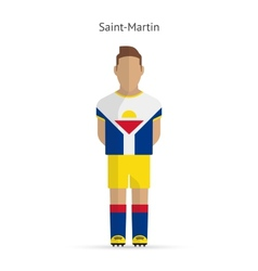 Saint-martin football player soccer uniform vector