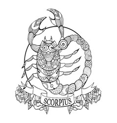 Scorpio zodiac sign coloring book vector