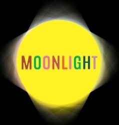 Searchlights around the labels moonlight vector