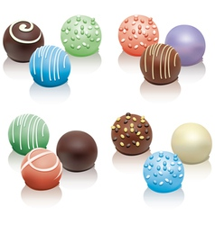 Set colorful candies vector