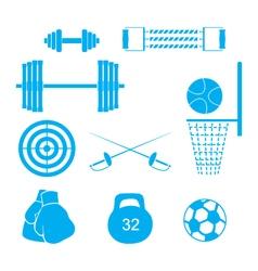 Sports equipment vector