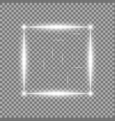 square with light effects laser sparks white color vector image