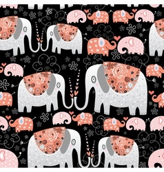 texture of ornamental elephants vector image