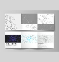 tech trifold brochure layout vector images 85