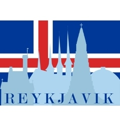 The Sights Of Reykjavik vector image
