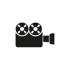 The video camera icon Camcorder symbol Flat vector image vector image