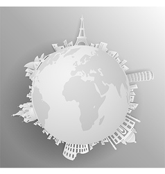 Travel the world monument vector image