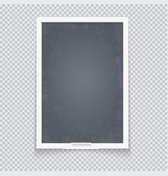 Vertical blackboard in neat plastic case vector