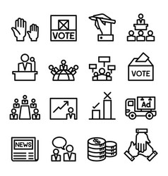 vote election democracy icon set vector image
