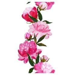Watercolor floral stripe vector