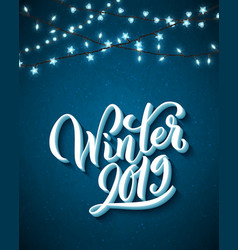 winter 2019 template for holiday greeting card vector image