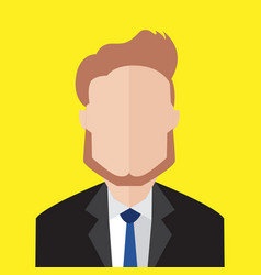 young bearded business man portrait vector image