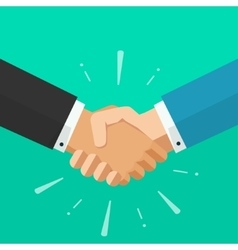 Business shaking hands symbol of success vector image vector image